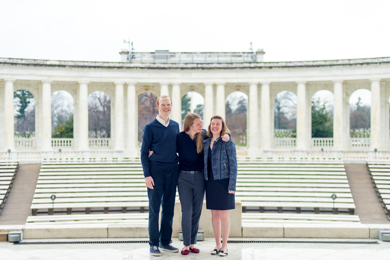 Armato Photography Family Portrait session at Arlington Cemetery
