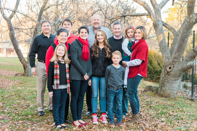 Family Portrait at Glenview Mansion in Rockville, Maryland