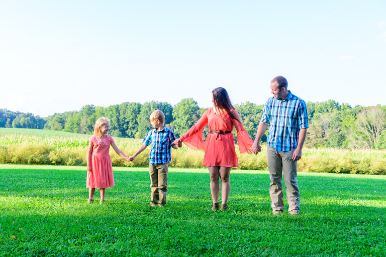 Armato Photography family portrait at Gaithersburg Agricultural Farm