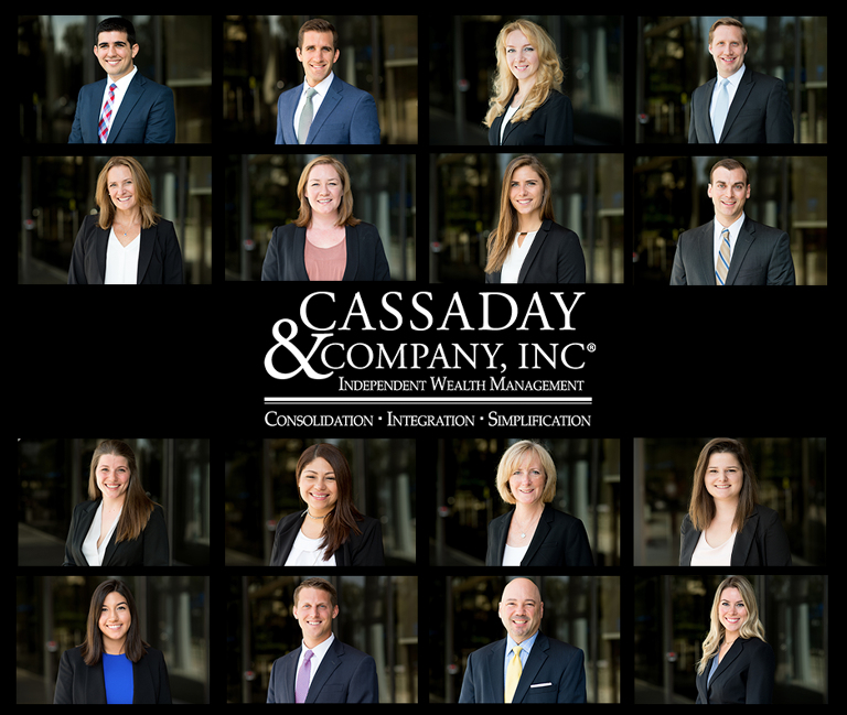 On location office headshots for Cassaday and Company in Virginia.